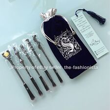 ⚡️Authentic STORYBOOK COSMETICS Gun Metal Harry Potter Wizard Wands Brushes Set⚡