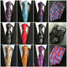 Men Fashion 100% Silk Paisley Tie JACQUARD WOVEN Necktie Wedding Party Ties New