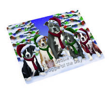 American Staffordshire Terriers Dog Christmas Family Cutting Board C62205