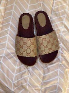 Gucci Original GG Platform Slide Sandal Size 39