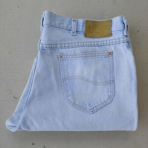 Vintage Lee Tapered Leg Light Wash Jeans Men Size 40x30 Actual 38x28.5