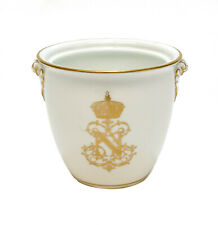 Manufacture Sevres France Porcelain Napoleon Double Handled Sugar Bowl, 1847