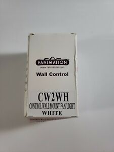 Fanimation CW2WH Ceiling Fan and Light Wall Control, White
