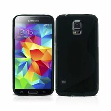 Para Samsung Galaxy S5 Mini GEL de SILICONA S-LINE y Pantalla Protectora Funda