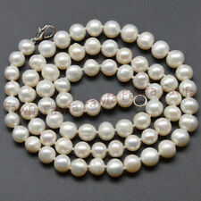 Long 16-48 Inches White Akoya Freshwater Cultured Pearl Necklace 7-8mm 8-9mm