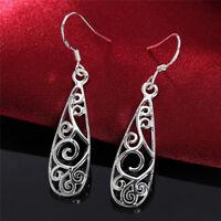 Women Jewelry Silver Plated Small Dangle Drop Earrings Ear Studs Earrings PY
