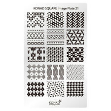Konad Stamping Nail Art Square Image Plate 21 Knit