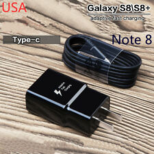 for Samsung Galaxy S8 S8plus Note 8 Adaptive Fast OEM Type -c Car Charger US Plug Cable