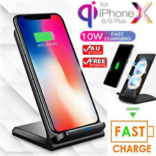 10W Wireless QI Fast Charger Charging Stand Holder For iPhone X 8 Plus Samsung