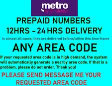 METROPCS Prepaid # For Port Verizon, Boost Mobile, Cricket, Att