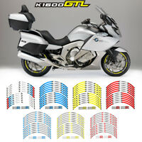 """MOTORCYCLE RIM """"17 STRIPES WHEEL DECALS TAPE STICKERS FOR BMW K1600GTL"""