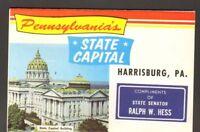 Undated Unused Postcard Souvenir Folder of Pennsylvania State Capital Harrisburg
