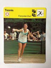 CARTE EDITIONS RENCONTRE 1978 / TENNIS - FRANCOISE DURR
