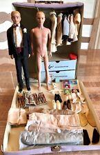Vintage Ken Lot-2 Original Ken Dolls , Tagged Clothes , Accessories & Case