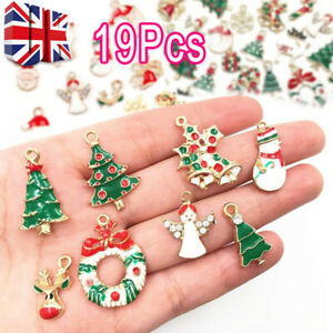 19 PCs Metal Alloy Mixed Charms Christmas Pendant DIY Craft For Jewelry Making
