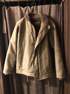 Vtg Bronson USN N-1 Deck Jacket WW2 Military Uniform Motorcycle Men's Coat 38