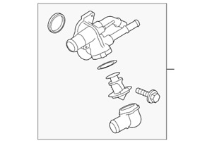 OEM NEW 09-13 Ford Lincoln Includes Water Outlet Thermostat Housing 9T4Z8A586BA