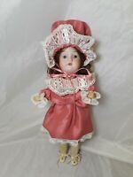 "Antique German Composition Doll Recknagel 1909 14"" Tall"