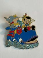 TDR 25th Anniversary Day Parade Pinocchio And Dumbo On A Whale Disney Pin  (B8)