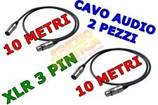 PROEL BULK250LU10 2PZ CAVO AUDIO XLR MASCHIO 3 PIN XLR FEMMINA 3 PIN CAVO MIXER