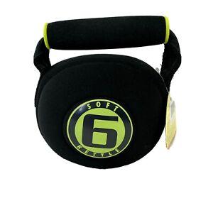 Golds Gym Soft Kettlebell 6 lb Pound Neoprene Sand Filled Black NEW