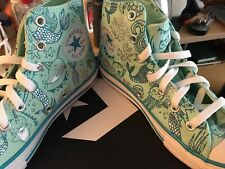 Converse All Star Girls Size 3 Ocean Mint/Rapid Teal/White Converse Shoes