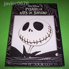 PESADILLA ANTES DE NAVIDAD DISNEY DVD NUEVO Y PRECINTADO EDICION 2 DISCOS