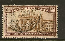 ITALIA: 1924 Anno Santo 60 sg175 USATO