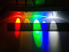 Qty 5 : 12 Volt Pre-Wired Bright LEDs, 10mm Diameter 12V LED Lights Various