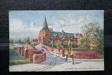 Dell Bridge & Village Schools, Port Sunlight, The Wirrall Vintage 1900s Postcard