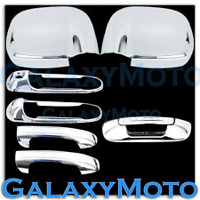 Chrome Mirror+2 Door Handle+Tailgate Cover for 02-08 Dodge Ram 1500+2500+3500