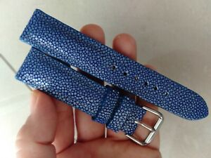 21mm/18mm  Black   Genuine Stingray WATCH STRAP BAND ( Make your request )