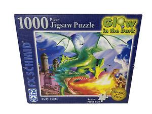 F X Schmid USA 1000 Piece Glow In The Dark Puzzle Fiery Flight 20X27 Open Box