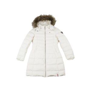 Tommy Hilfiger Denim Maria Down Filled Jacket Coat - White / UK L