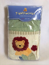 New Tiddliwinks Safari Crib Dust Ruffle Lion Elephant Baby Nursery