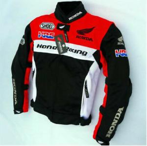 Honda HRC Motorcycle Jacket Men's Anti-fall Protective Breathable Cycling Jacket