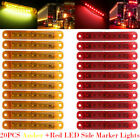 20pcs Amberred 9led Sealed Side Marker Clearance Light For Truck Trailer Lorry