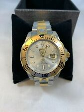 Mens INVICTA #3050 Pro Grand Diver Silver Tone Dial S/S Automatic Watch B2473