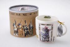 Baronesa anchoa de aliento Taza Gato caracteres Novedad Regalo De Colección China de hueso