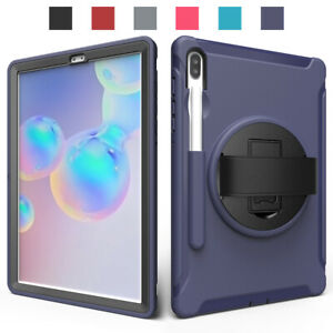 For Samsung Galaxy Tab S6 2019 / S6 Lite 2020 Tablet Shockproof Strap Case Cover