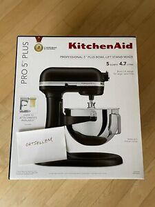 KitchenAid Pro 5 Plus 5 Quart Stand Mixer Matte Black ✅ NEW SHIPS NOW ✅