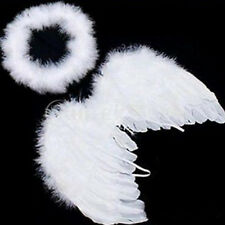Cute Prop White Angel Party Baby Wings Kids Feather Decoration For