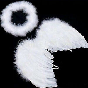 Cute Prop White Angel Party Baby Wings Kids Feather Decoration