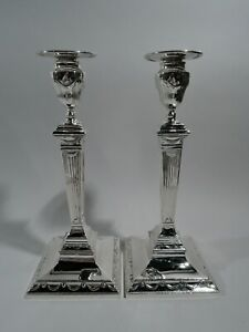 Tiffany Candlesticks - 18554 - Antique Neoclassical - American Sterling Silver