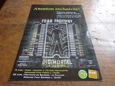 FEAR FACTORY - Publicité de magazine / Advert DIGIMORTAL !!!!!!!