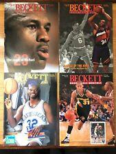 Lot of (12) Beckett Basketball Magazines / Price Guides 1990-1994 Michael Jordan