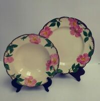 "Lot of 2 - Franciscan Desert Rose 10.5""  Dinner Plate & 8.5"" Rim Soup Bowl USA"