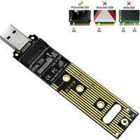 M.2 NVME SSD to USB 3.1 Adapter PCI-E to USB-A 3.0 SSD Internal Converter Car Dh