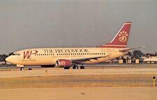 THE BROADMOOR Western Pacific B-737-300  Airplane Postcard