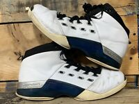 Nike Air Jordan Retro 17 Wizards Blue Home 302720-141 Men's sz 11 Fair See Pics